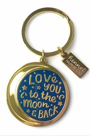 Hennel Paper Co Moon & Back Keychain - Product Mini Image