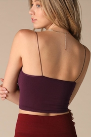 Nikibiki Plum Thin-Strap Crop - Front full body