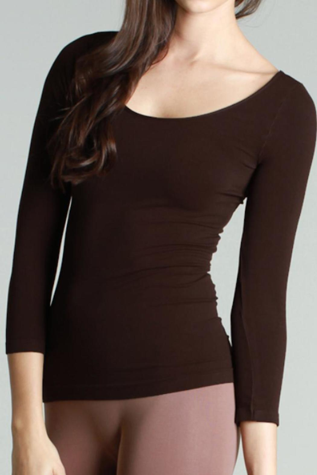 Nikibiki Seamless 3/4 Sleeve Top - Front Cropped Image