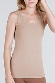 Nikibiki Seamless Beige Camisole Top - Front cropped