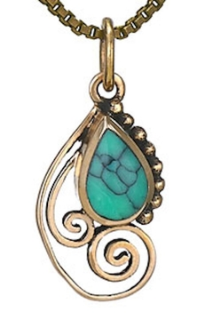 Tiger Mountain Swirly Turquoise Necklace - Alternate List Image