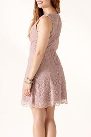 Nikibiki Tile-Lace Embroidered Dress - Back cropped