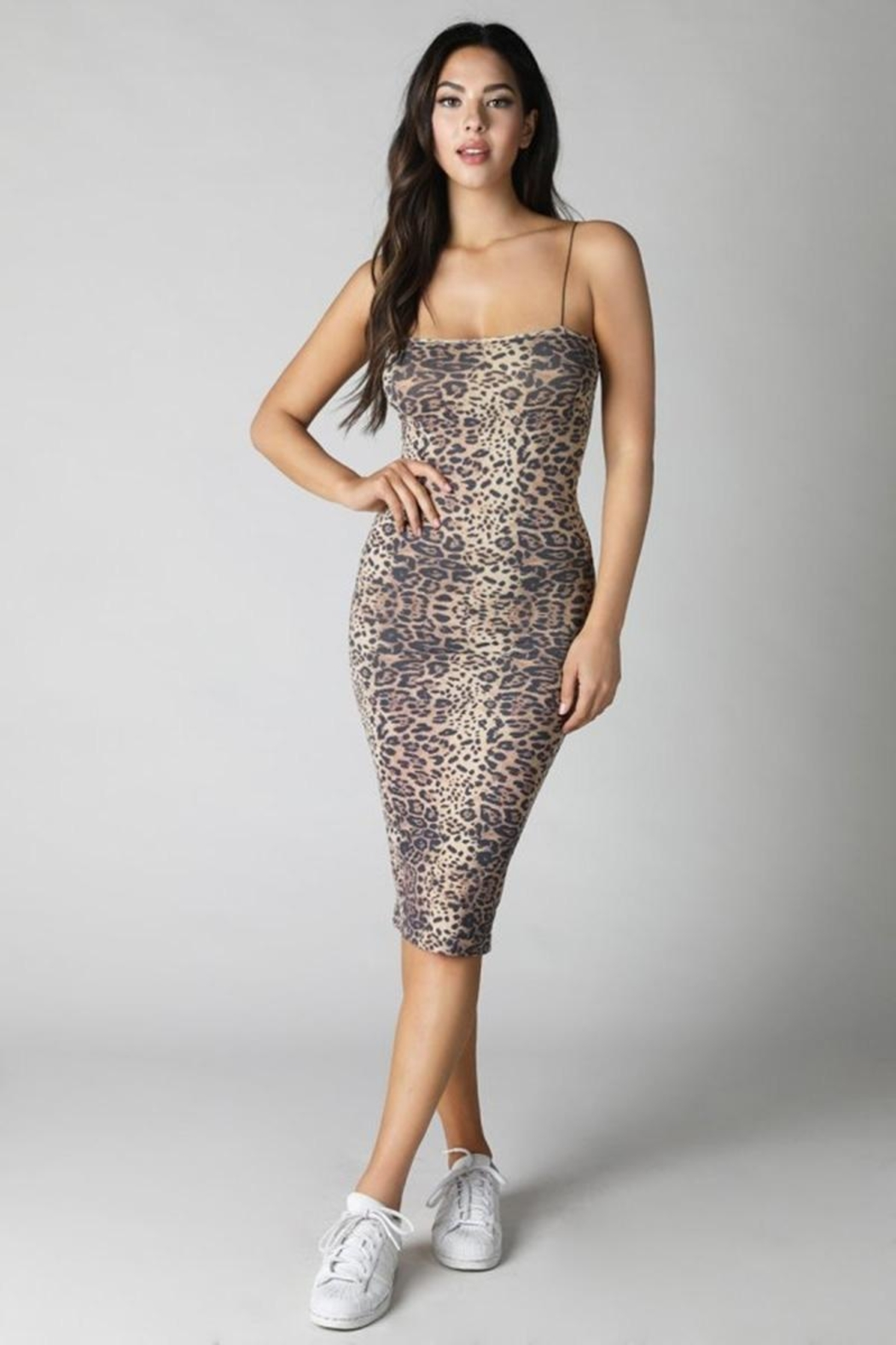 Nikibiki Tube Midi Bodycon - Back Cropped Image