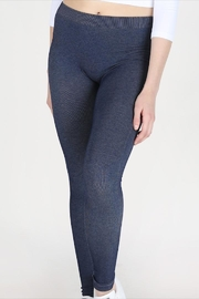 Nikibiki Two-Tone Blue Ankle-Legging - Product Mini Image