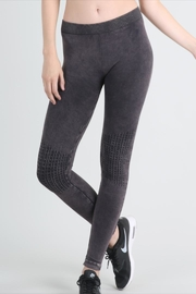 Nikibiki Vintage-Charcoal Knee-Shirring Legging - Product Mini Image