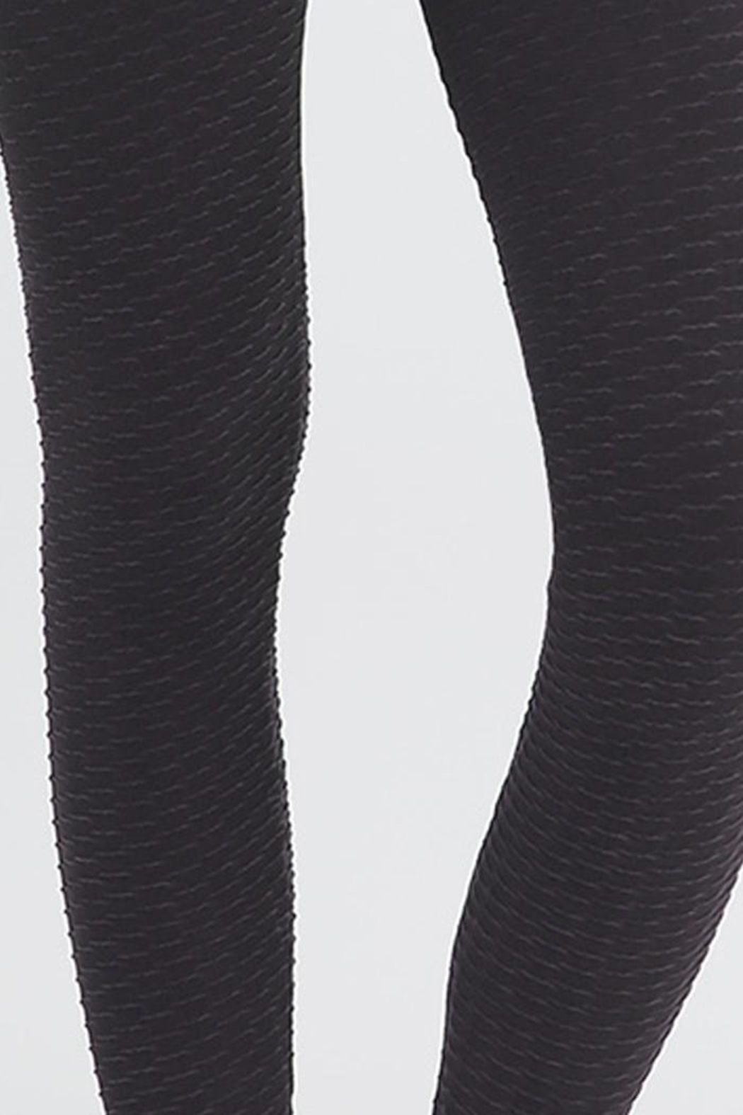Nikibiki Wave Texture Leggings - Front Full Image