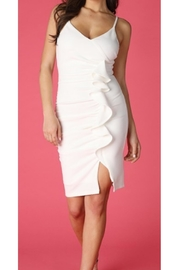 Nikibiki White Ruffle Dress - Product Mini Image