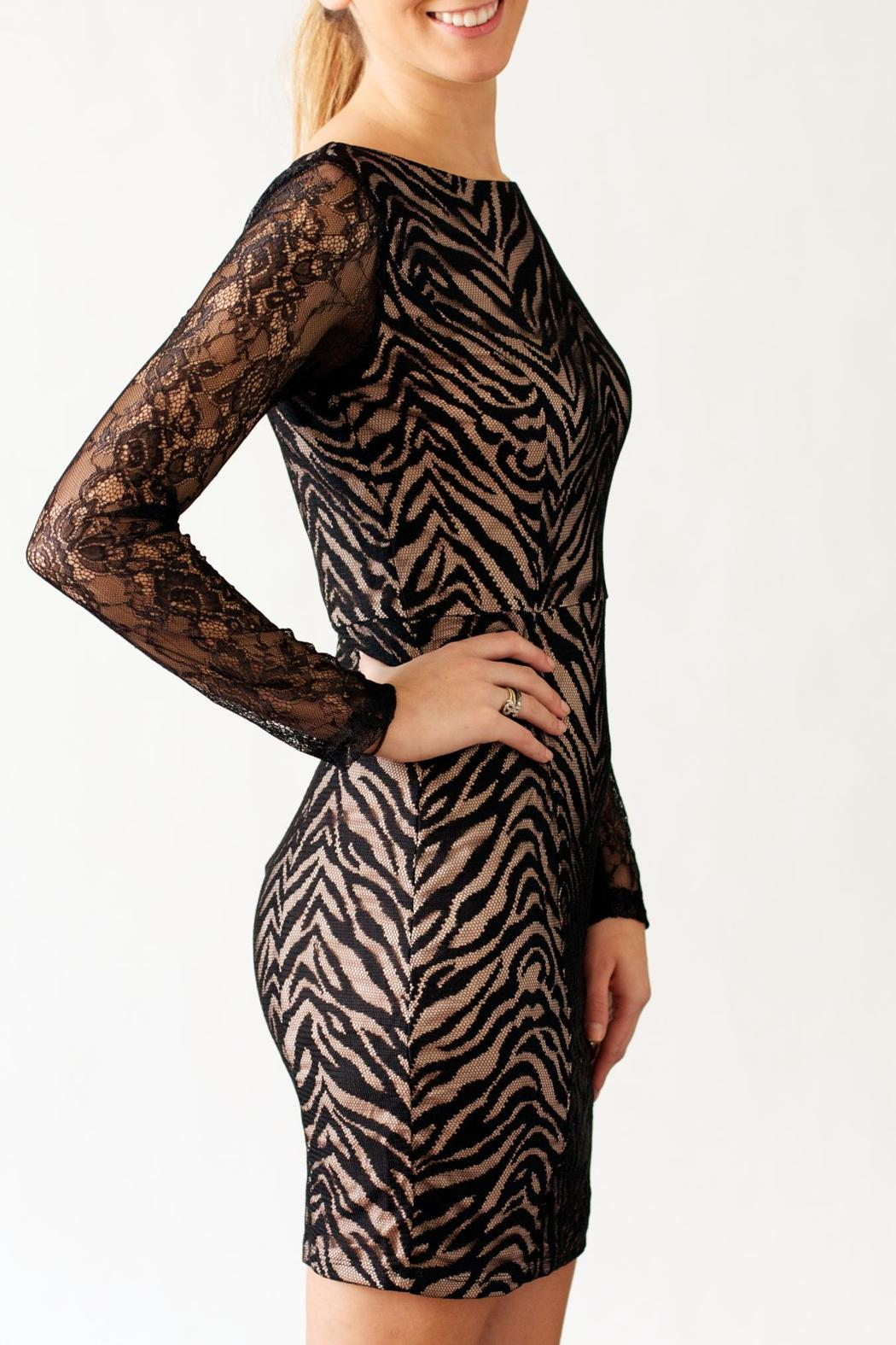 Nikibiki Zebra Lace Dress - Front Cropped Image