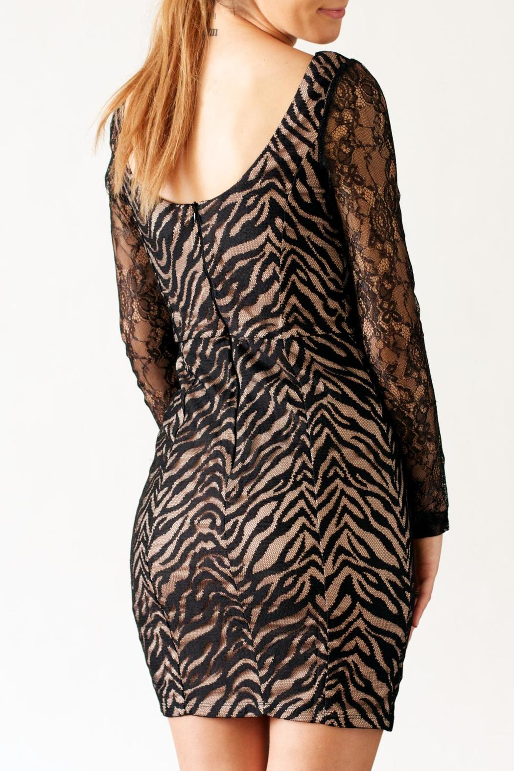 Nikibiki Zebra Lace Dress - Side Cropped Image