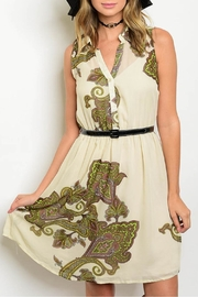 Nikkilund Cream Paisley Dress - Product Mini Image