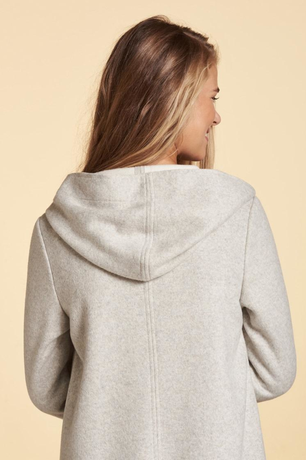 Nile Hooded Snap Duster - Back Cropped Image