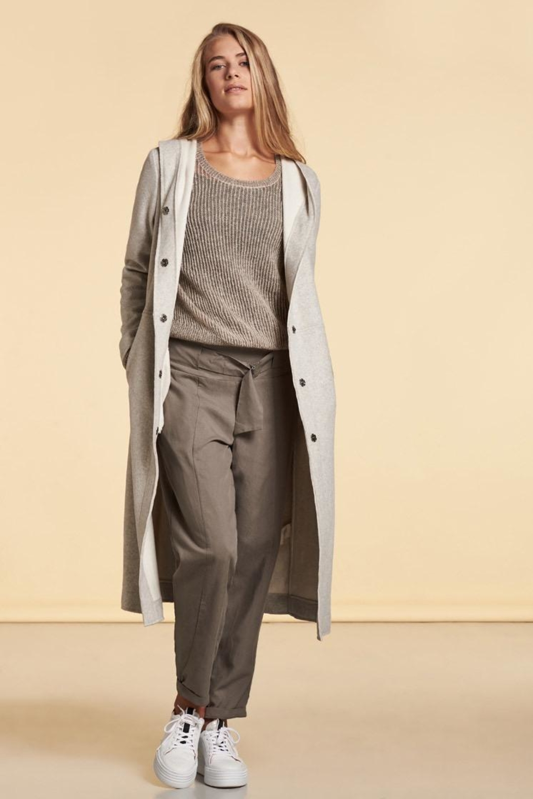 Nile Hooded Snap Duster - Side Cropped Image