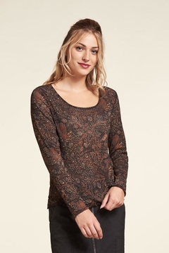 Nile Reversible  Mesh-Print Top - Product List Image
