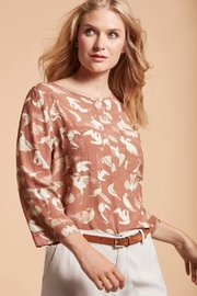 Nile Rust Birdprint Blouse - Front cropped