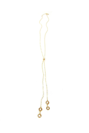 Jessica Elliot Nina Double Swarovski Long Slider Necklace - Product Mini Image