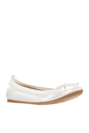 Nina Kids Esther Flat in Ivory Pearlized - Front cropped
