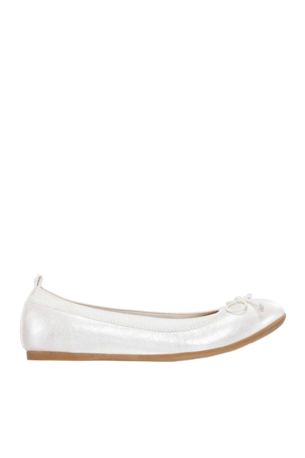 Nina Kids Esther Flat in Ivory Pearlized - Front Full Image
