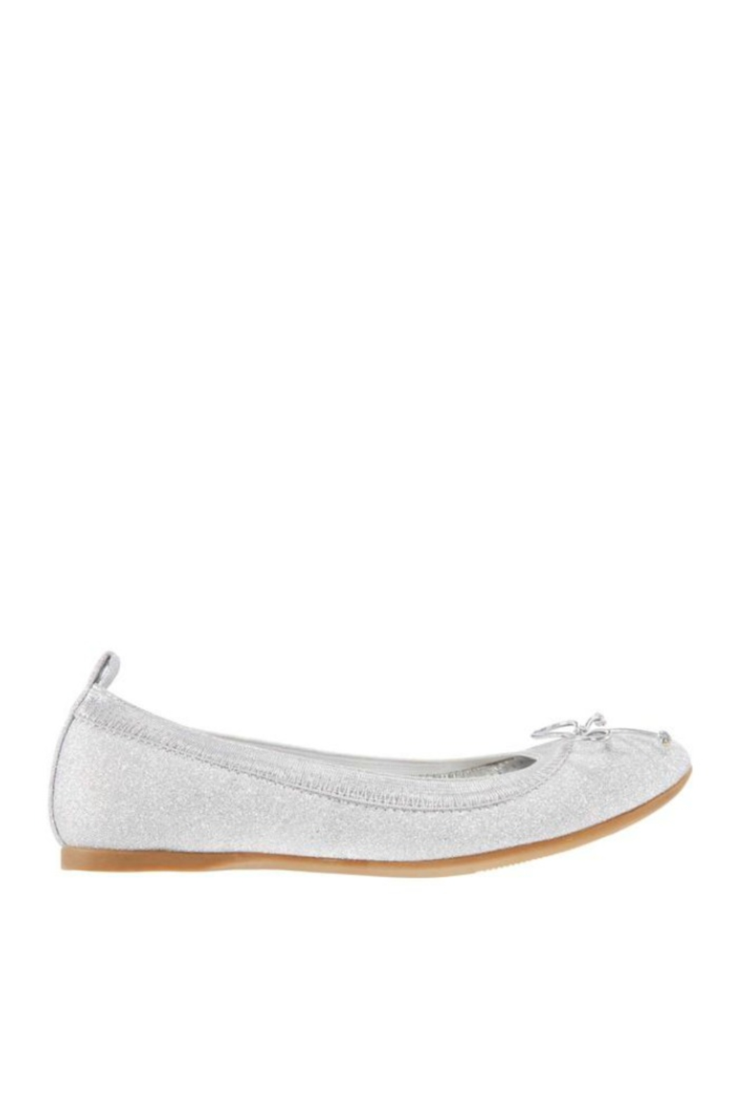 Nina Kids Esther Flat in Silver - Front Full Image