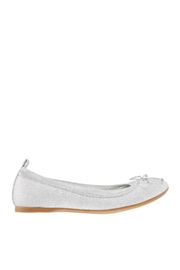 Nina Kids Esther Flat in Silver - Front full body