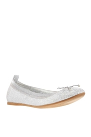 Nina Kids Esther Flat in Silver - Front cropped