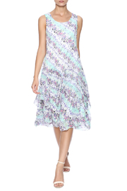 Nina Leonard Two Piece Floral Dress - Product Mini Image