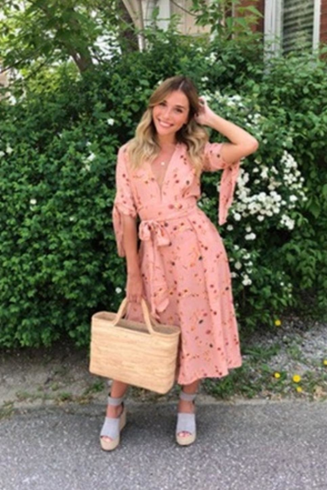 super cheap popular stores the best Faithfull The Brand Nina Midi Dress from Canada by Angel Cupboard ...