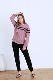 another love  Nina Striped Long Sleeve Top - Product Mini Image