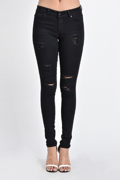 Shoptiques Product: Black Ripped Denim