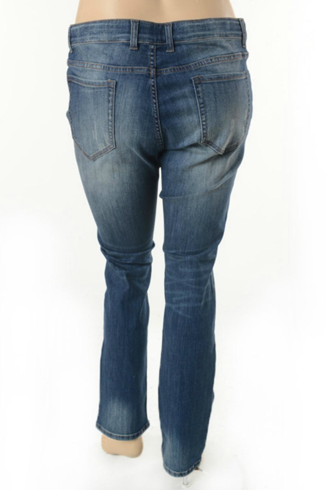 Nine Planet Curvy Distressed Jeans - Front Full Image
