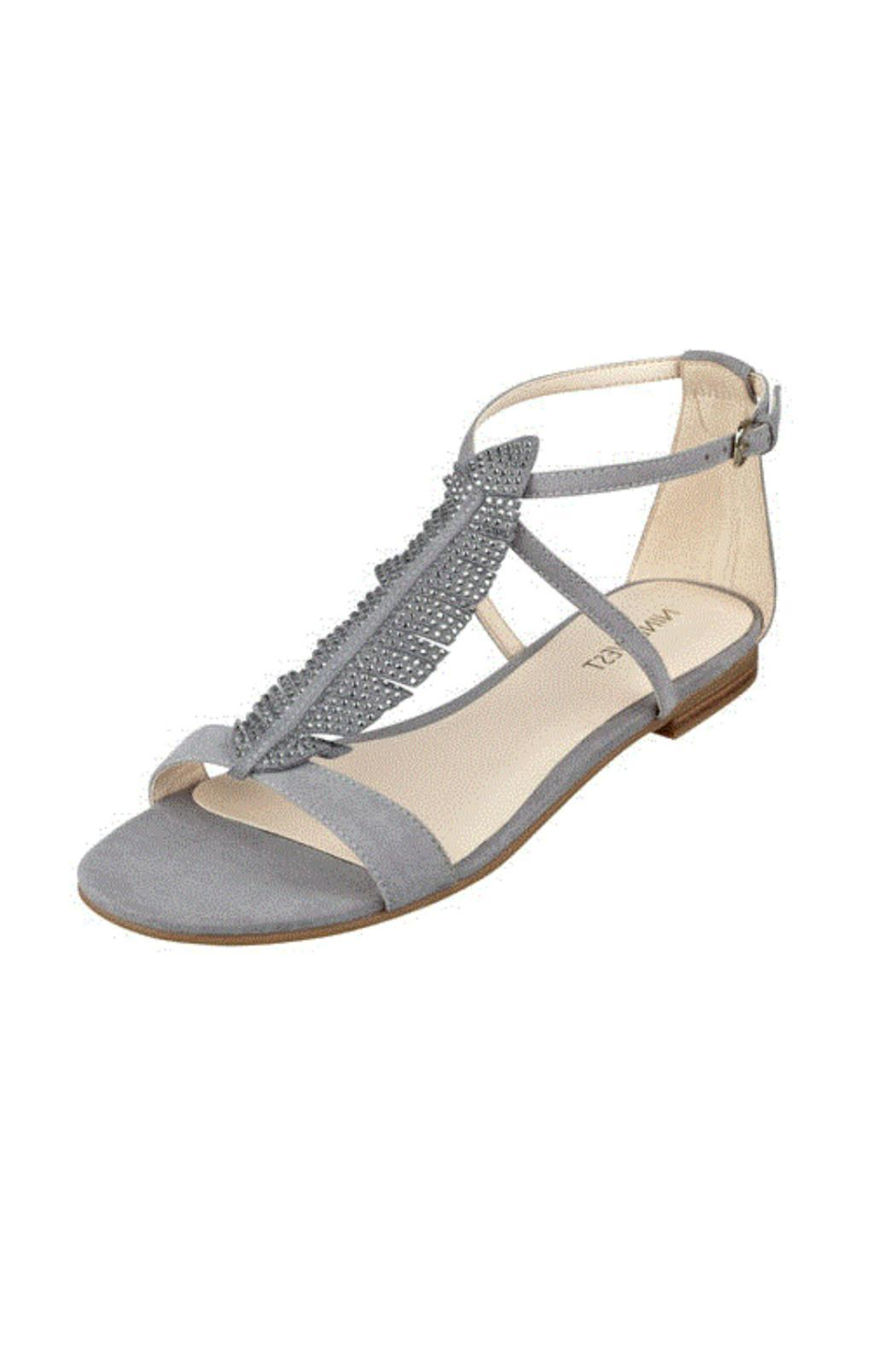 Flat sandals - Nine West Feather Flat Sandals Front Cropped Image