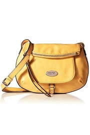 Nine West Yellow Leather Flappy - Front cropped