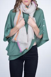 Nine Yaks Linen Scarf Tricolour - Front cropped