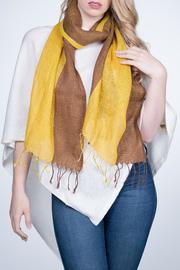 Nine Yaks Linen Scarf Two Tone - Product Mini Image
