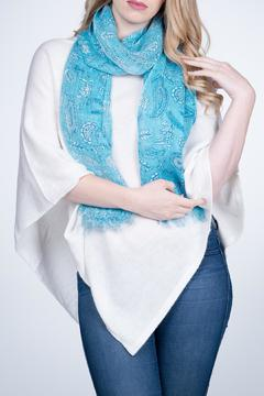 Nine Yaks Paisley Linen Scarf - Alternate List Image