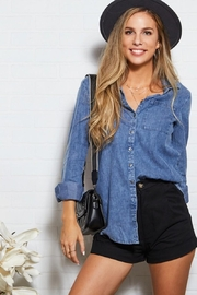 Ninexis Chambray Button Up - Front cropped