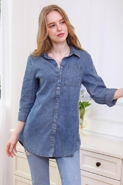 Ninexis Chambray Button Up - Side cropped