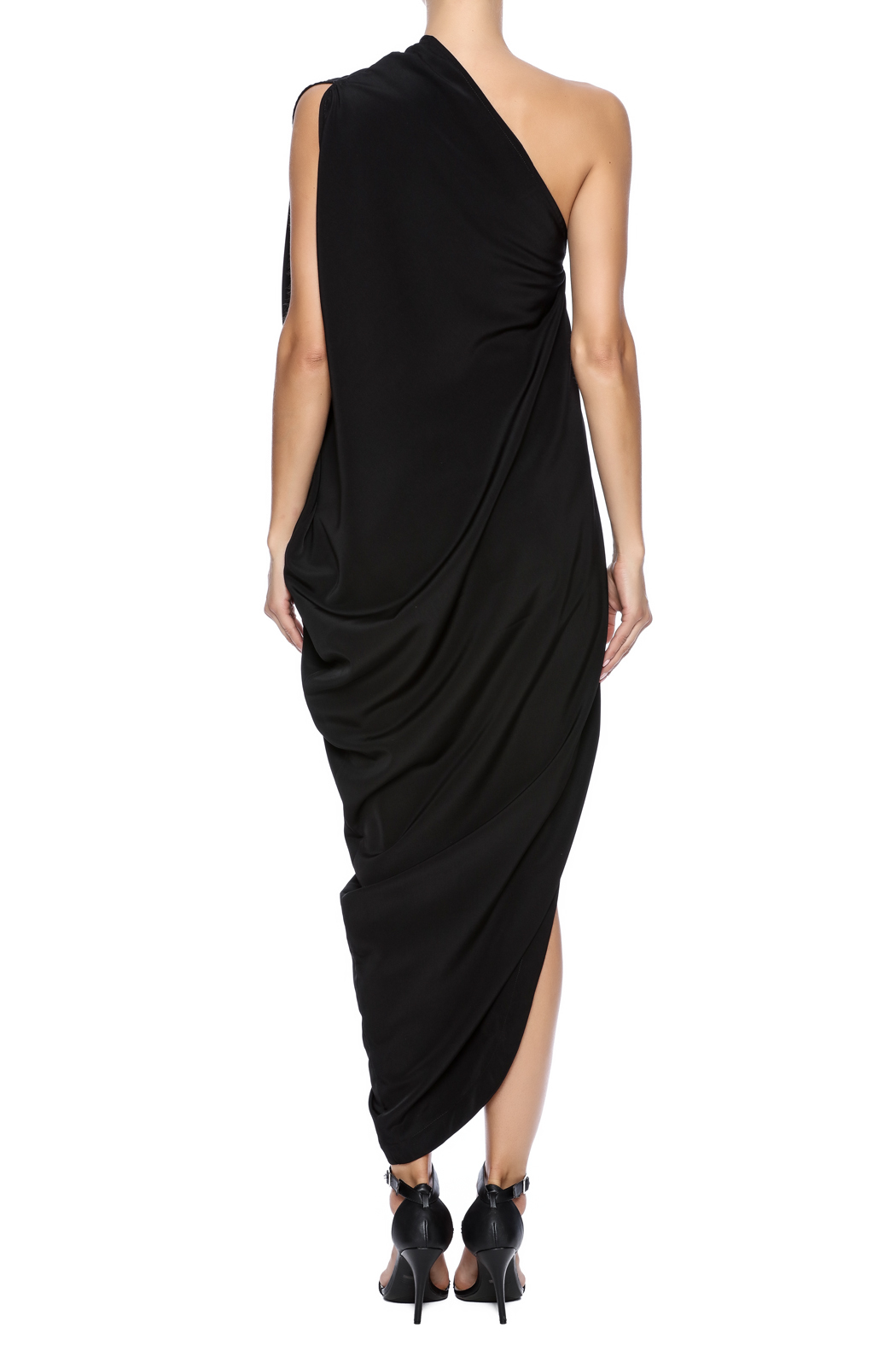 NINObrand Asymmetric One Shoulder Dress - Back Cropped Image