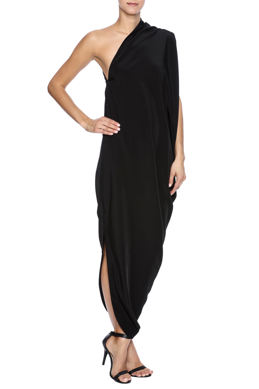NINObrand Asymmetric One Shoulder Dress - Front Full Image