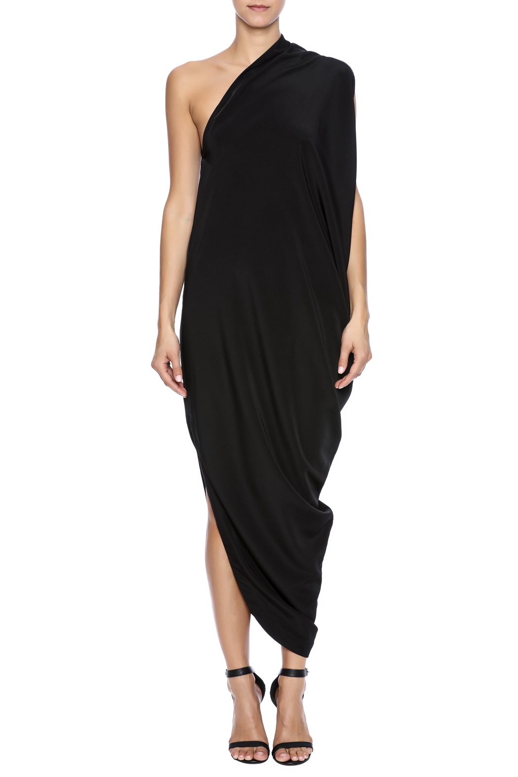 NINObrand Asymmetric One Shoulder Dress - Front Cropped Image