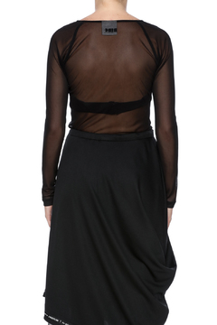 NINObrand Black Sheer Top - Alternate List Image