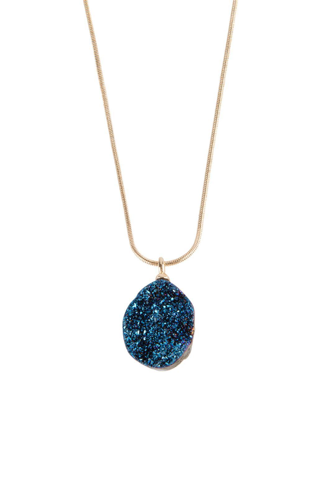 Niqua Jewelry Metalized Geode Necklace - Main Image