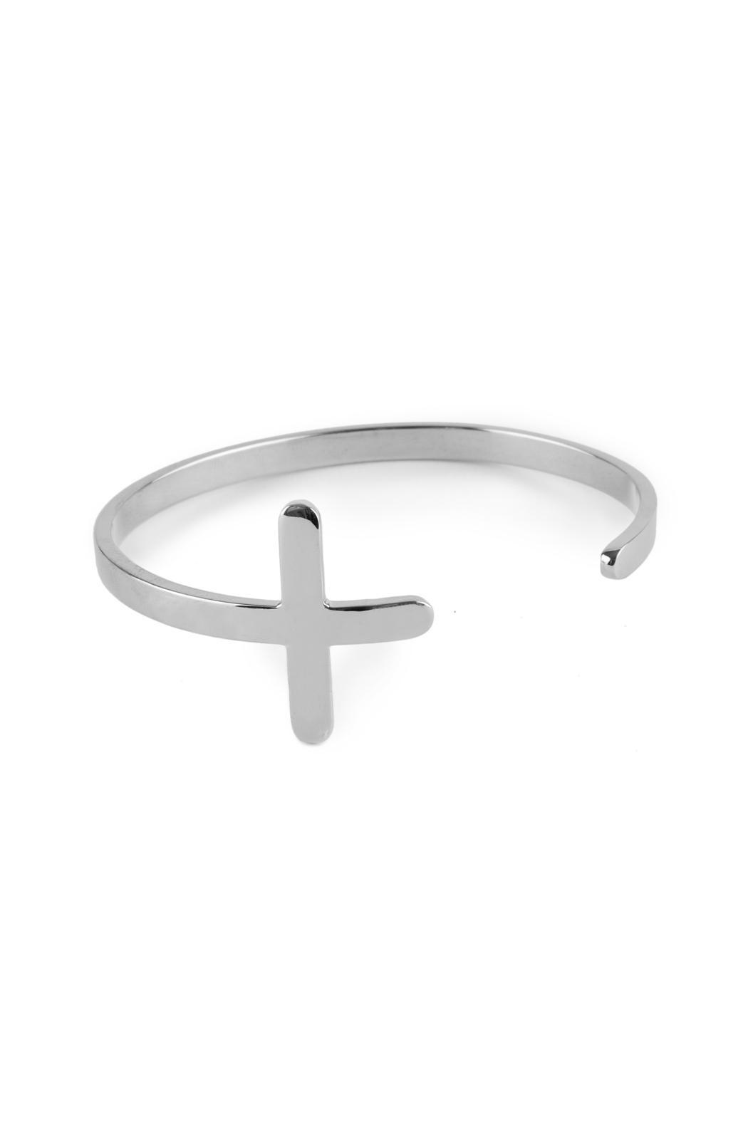 Niqua Jewelry Silver Cross Cuff - Main Image