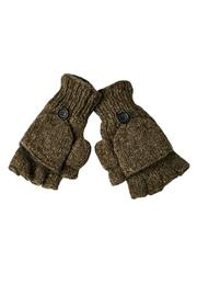 Nirvanna Button Flap Mittens - Front cropped
