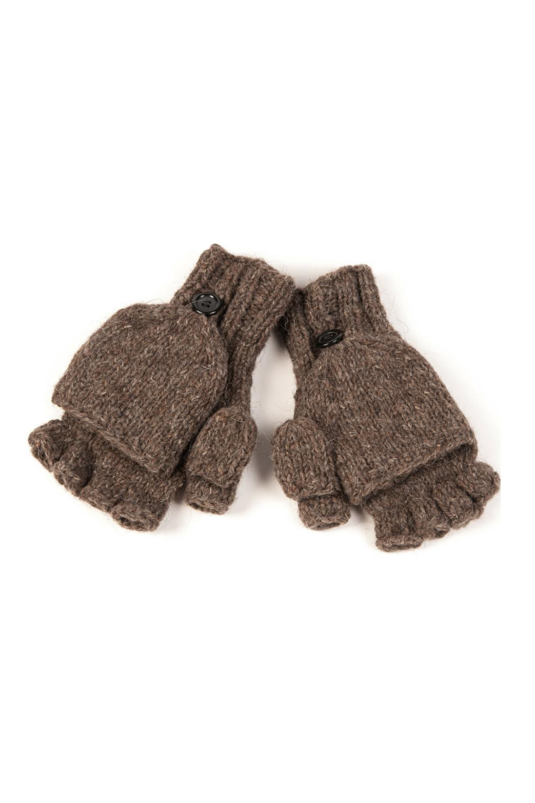 Nirvanna Button Flap Mittens - Front Cropped Image