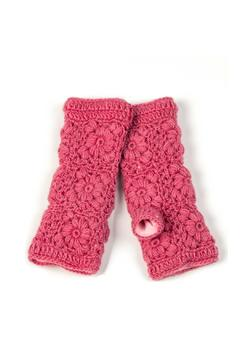 Shoptiques Product: Flower Crochet Handwarmer