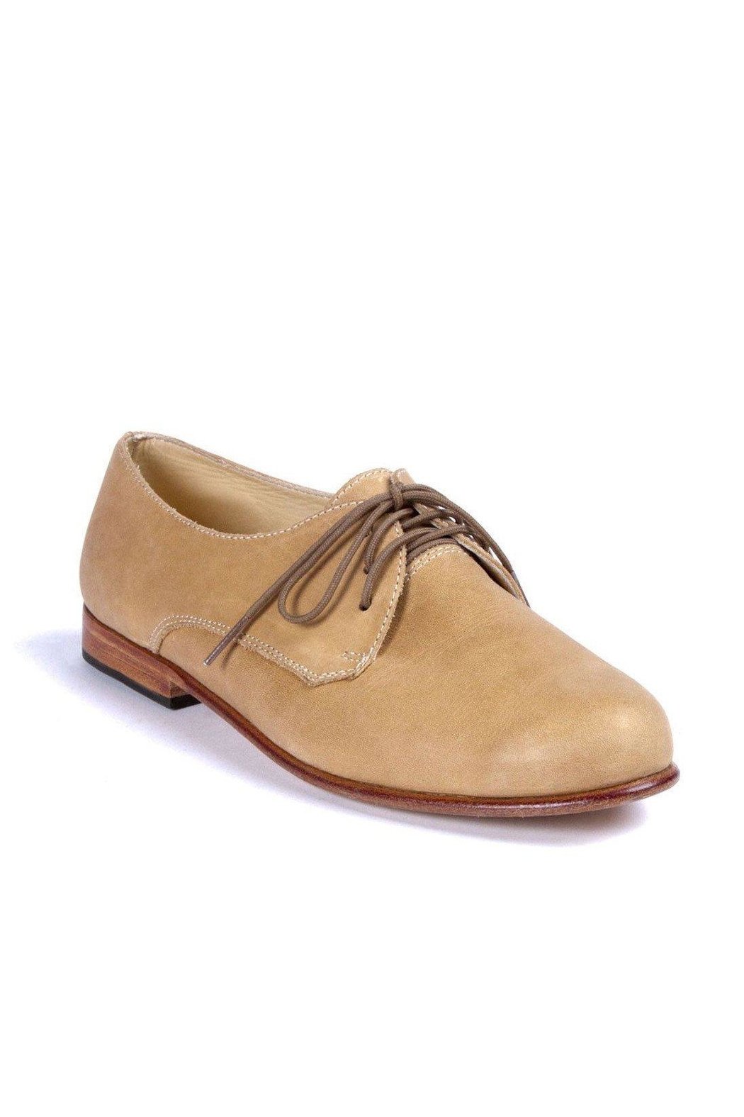 Nisolo Almond Oliver Oxford Shoes - Front Full Image