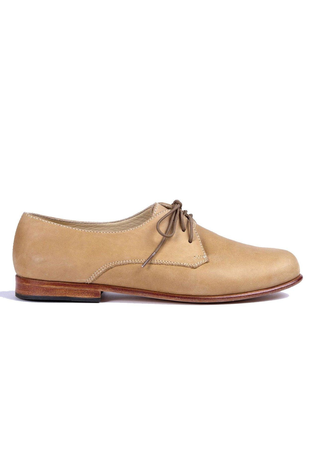 Nisolo Almond Oliver Oxford Shoes - Back Cropped Image
