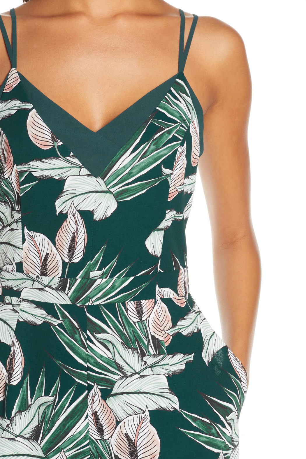 Adelyn Rae Nissa Tropical Jumpsuit - Back Cropped Image
