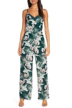 Adelyn Rae Nissa Tropical Jumpsuit - Product List Image
