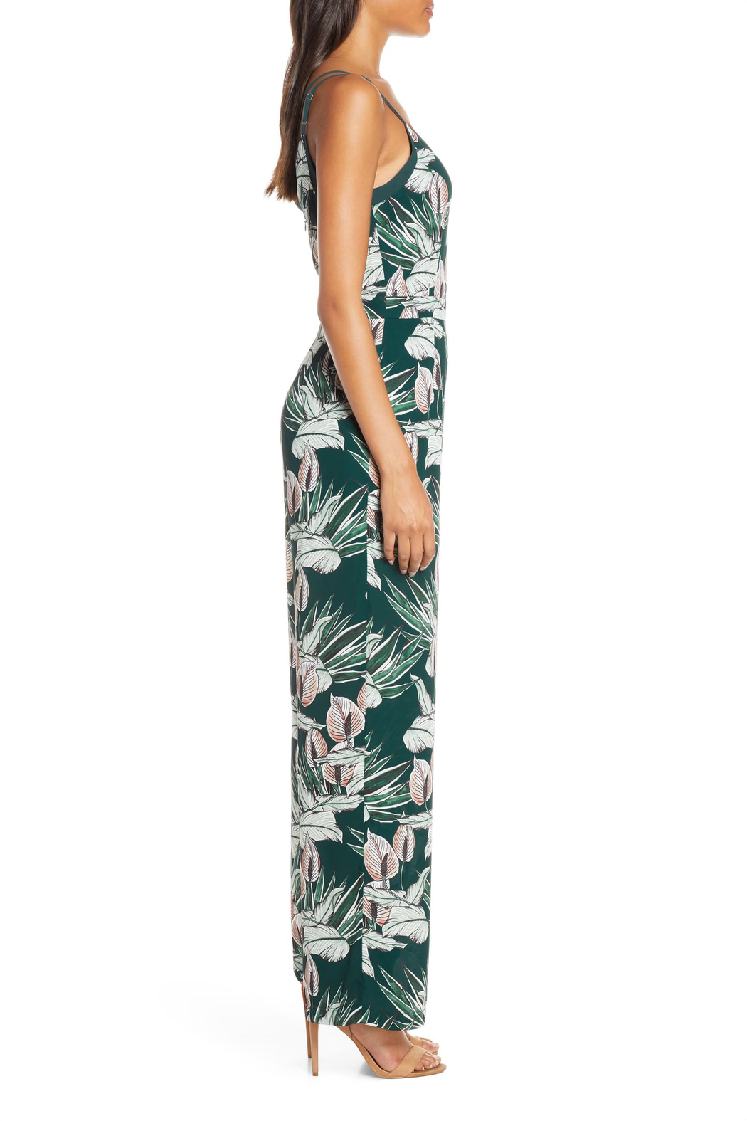 Adelyn Rae Nissa Tropical Jumpsuit - Side Cropped Image